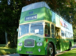 1960's open top bus for weddings in Chichester